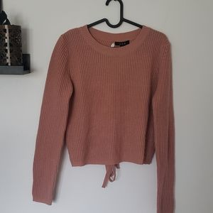 Sweater with laces